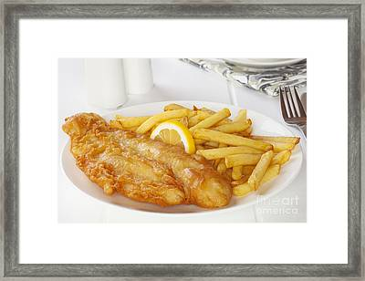 Fish And Chips Framed Print by Colin and Linda McKie