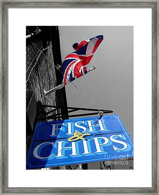 Fish And Chips Framed Print by Samantha Higgs