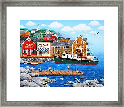 Fish And More Fish Framed Print by Wilfrido Limvalencia