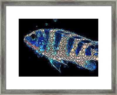 Fish Art Print - Tropical Decor By Sharon Cummings Framed Print by Sharon Cummings
