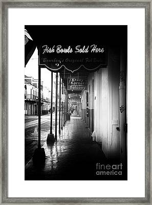 Fish Bowls Sold Here Framed Print by John Rizzuto