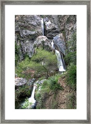 Fish Canyon Falls Framed Print by Eddie Yerkish