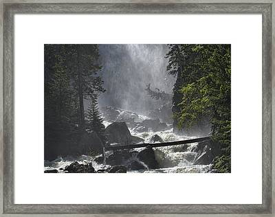 Framed Print featuring the photograph Fish Creek Mist by Don Schwartz