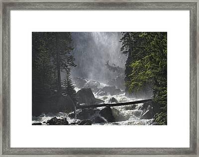 Fish Creek Mist Framed Print by Don Schwartz