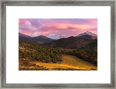 Fish Creek Pass Sunset Framed Print