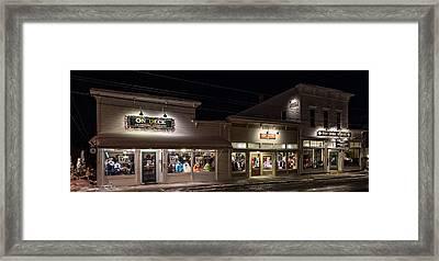 Fish Creek Shops Framed Print by Jeffrey Ewig