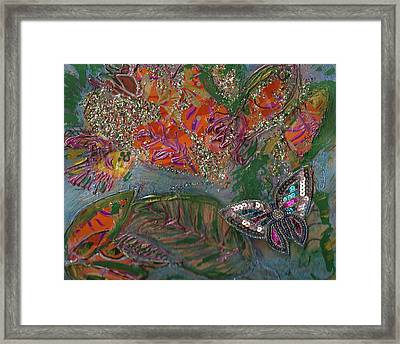 Fish Dream Of Flying Butterfly Dreams Of Swimming Framed Print by Anne-Elizabeth Whiteway