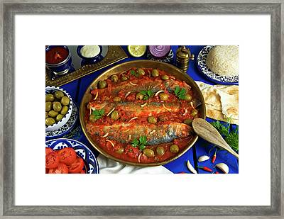 Fish Egyptian-style, Egypt, North Africa Framed Print