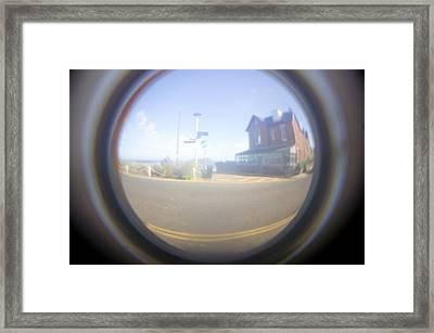 Fish Eye Effect Framed Print