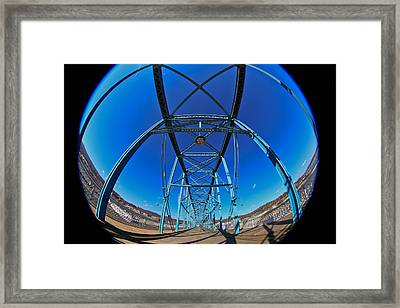 Fish Eye View Of Walnut Street Bridge Framed Print by Tom and Pat Cory