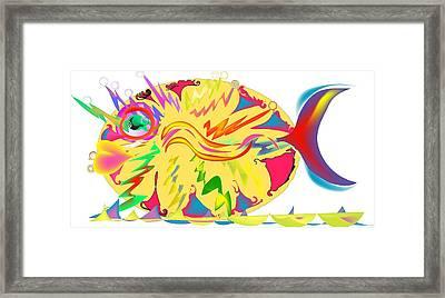 Fish Fanatic Framed Print by Andy Cordan