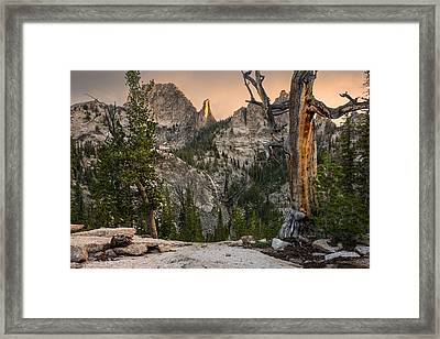 Fish Fin Ridge Framed Print by Leland D Howard