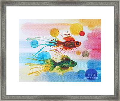 Fish Finale Framed Print