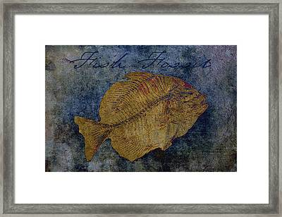 Fish Fossil Framed Print