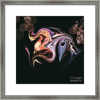 Framed Print featuring the digital art Fish by Gabrielle Schertz