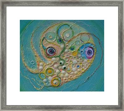 Fried Egg Head Over Queasy Framed Print
