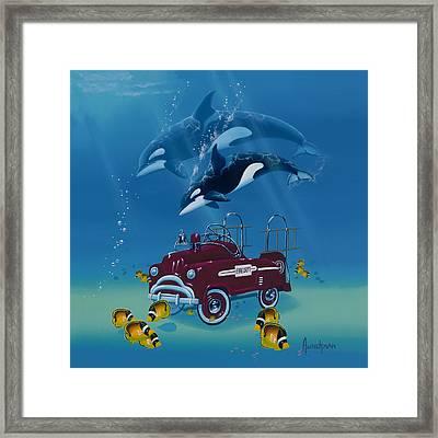 Fish Hook  Ladder Framed Print