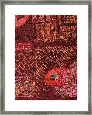Fish In A Maze Of Nets Framed Print by Anne-Elizabeth Whiteway