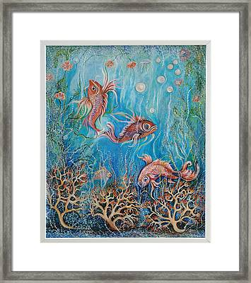 Fish In A Pond Framed Print