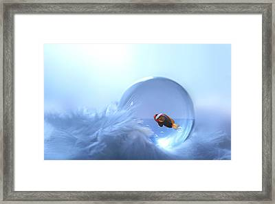 Fish In Glass Framed Print by Heike Hultsch