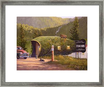 Fish Inn Framed Print