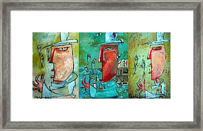 Fish Juggler Series Composite Framed Print