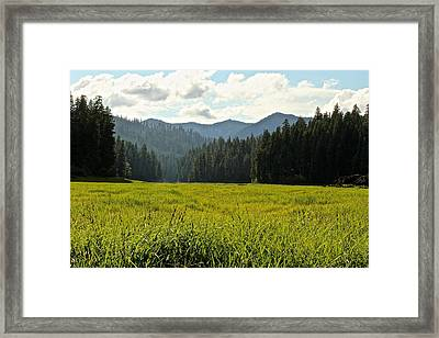 Fish Lake - Open Field Framed Print