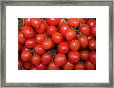 Fish Market Red Tomatoes Goods Framed Print by Darrell Gulin