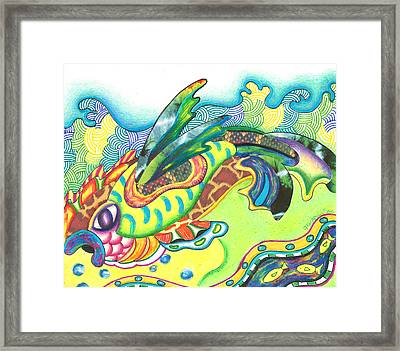 Folami - Fish Framed Print by Michael Andrew Frain