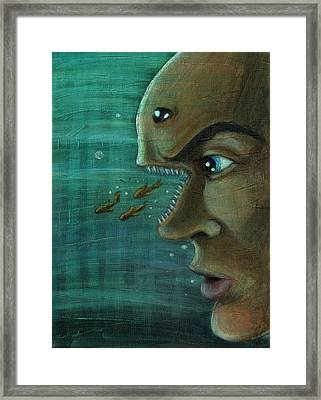 Fish Mind Framed Print by John Ashton Golden