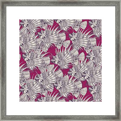 Fish Mirage Berry Framed Print by Sharon Turner