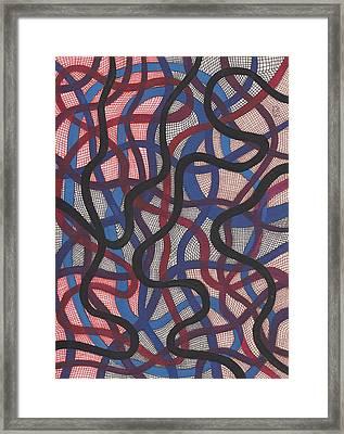 Fish Net Design Framed Print