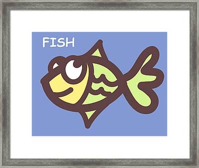 Fish Framed Print by Nursery Art