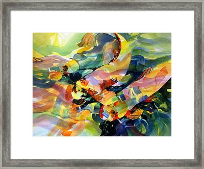 Fish Patterns 2 Framed Print by Rae Andrews