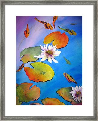 Framed Print featuring the painting Fish Pond I by Lil Taylor