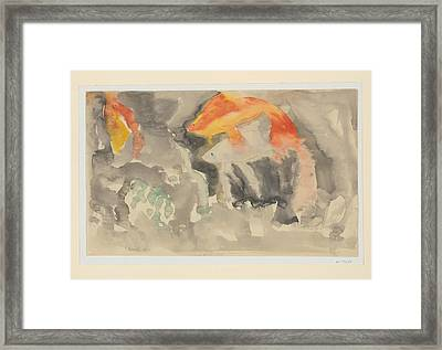 Fish Series, No. 5 Framed Print by Charles Demuth