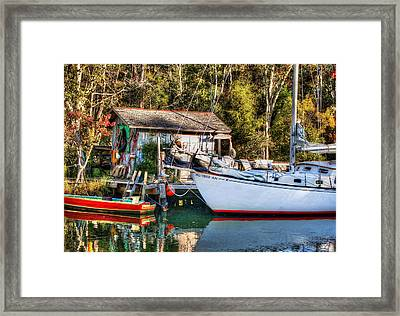 Fish Shack And Invictus Original Framed Print