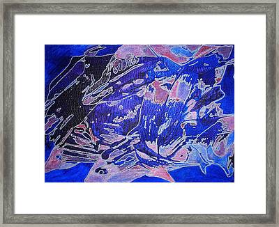 Fish Shoal Abstract Framed Print