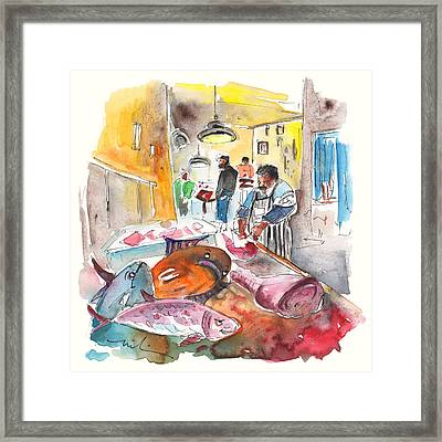 Fish Shop In Siracusa Framed Print by Miki De Goodaboom