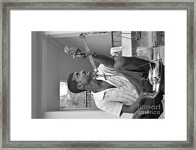 Fish Stall Neil Island  Framed Print by Bobby Mandal