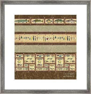 Fish Sticks Duvet Bedding Cover Framed Print