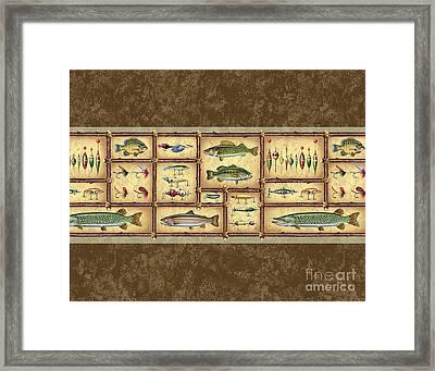 Fish Sticks Sham Pillow Framed Print