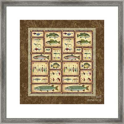 Fish Sticks Square Pillow Framed Print