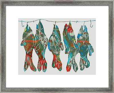 Fish Stylised Drawing Art Poster Framed Print by Kim Wang