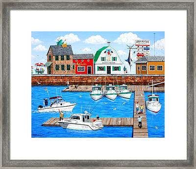 Fish Tails And Tall Tales Framed Print