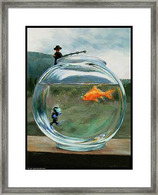 Fish Tale Framed Print by Diana Moses Botkin