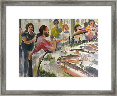 Fish Tales Framed Print