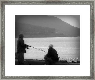 Fish Tales Framed Print by Lorraine Heath