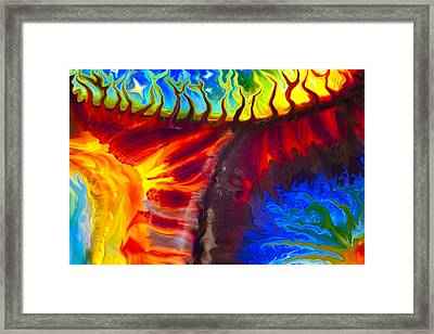 Fish Tales Framed Print by Omaste Witkowski