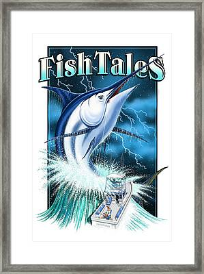Fish Tales Framed Print